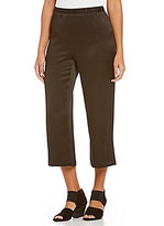 Eileen Fisher Straight Flat Front Cropped Pants