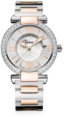 Chopard Imperiale 18K Rose Gold, Stainless Steel, Diamond & Amethyst Bracelet Watch