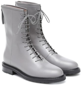 LEGRES Leather combat boots