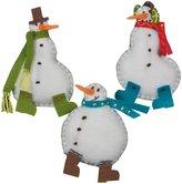 Dimensions Needlecrafts Felt Applique, Simple Snowmen Ornaments