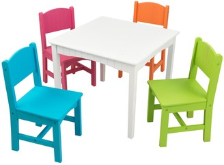 Kid Kraft Nantucket Table & 4 Chair Set - Bright