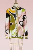 Emilio Pucci Maschere print silk pyjama shirt