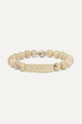 Sydney Evan 14-karat Gold, African Opal And Diamond Bracelet - one size