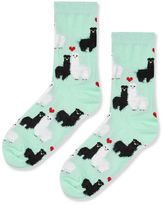 Fluffy llama socks