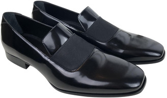 Jimmy Choo Black Leather Flats