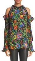 3.1 Phillip Lim Women's Floral Cold Shoulder Top