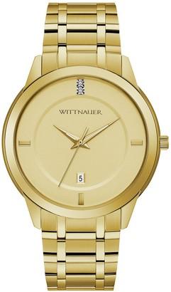 Wittnauer Men's Goldtone Dial Diamond Accent Watch