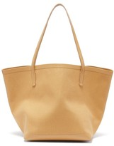 The Row Park Canvas And Leather Tote Bag - Womens - Nude