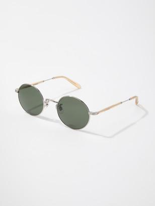 Garrett Leight Lovers Round Coin Edge Sunglasses