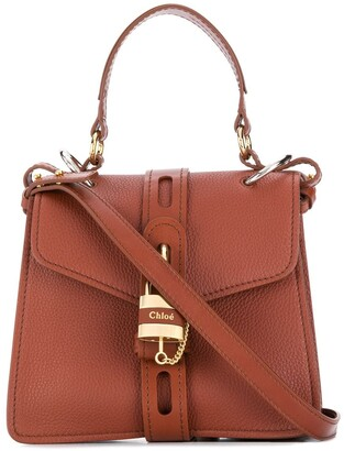 Chloé Aby pebbled tote bag