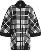 M Missoni Two-Tone Checked Virgin Wool Cape
