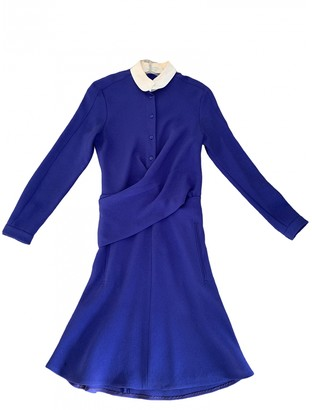 Carven Blue Polyester Dresses