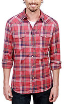 Lucky Brand Saturday Stretch Sante Fe Western Shirt