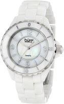 Burgi Women's BU57WT Ceramic Quartz Bracelet Watch