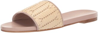 Kaanas Women's Mallorca Woven Embroidered Flat Slide Sandal