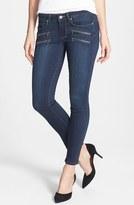 Paige 'Edgemont' Zip Detail Ultra Skinny Jeans (Transow)