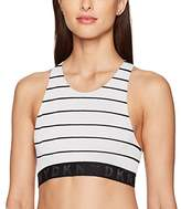 DKNY Women's Seamless Litewear High Neck Solid Crop