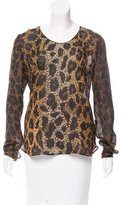 Tom Ford Silk Leopard Print Top w/ Tags