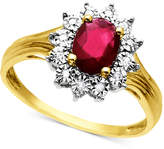 Macy's 10k Gold Ring, Ruby (3/4 ct. t.w.) and Diamond Accent