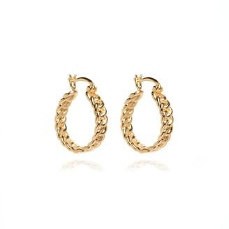 Coco Mango Jewellery Luxe Gaia 18K Gold Hoop Earrings