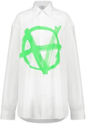 Vetements Anarchy cotton shirt