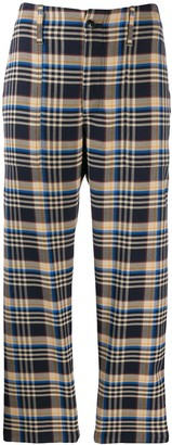 Closed Plaid Tailored Trousers