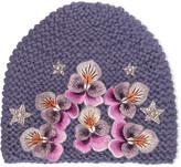 Jennifer Behr Swarovski Crystal-embellished Appliquéd Alpaca Beanie - Lilac