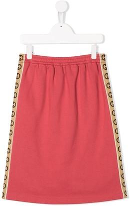Gucci Kids Interlocking G stripe skirt