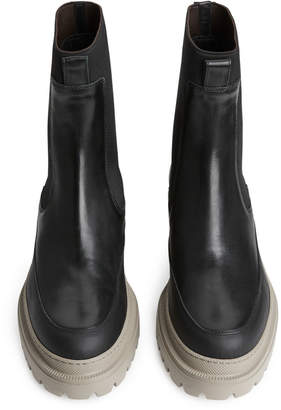 Arket Chunky-Sole Leather Boots