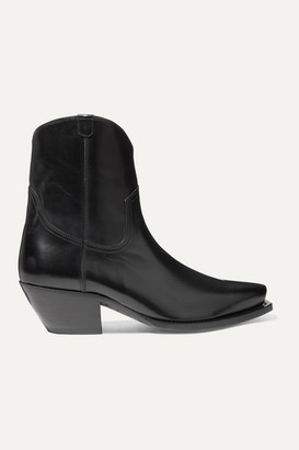 R 13 Leather Ankle Boots - Black