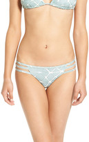 RVCA 'Crystalized' Strappy Bikini Bottoms