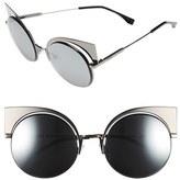 Fendi Women's 53Mm Round Cat Eye Sunglasses - Aqua