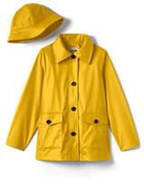 Lands' End Little Girls Rain Slicker-Yellow