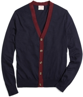 Brooks Brothers Tipped Cardigan