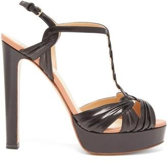 Francesco Russo Braided-strap Platform Leather Sandals - Black