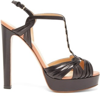 Francesco Russo Braided-strap Platform Leather Sandals - Womens - Black