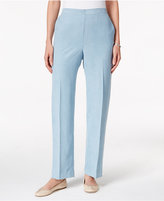 Alfred Dunner Northern Lights Faux-Suede Straight-Leg Pants