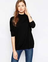 B.young High Neck 3/4 Sleeve Top