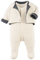 Petit Bateau Baby boys cardigan and pyjamass set