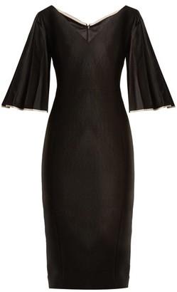 Carl Kapp - Alpen V-neck Wool-blend Dress - Womens - Black