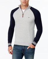 Tommy Hilfiger Men's Colorblocked Quarter-Zip Sweater
