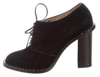 Charlotte Olympia Suede Lace-Up Booties
