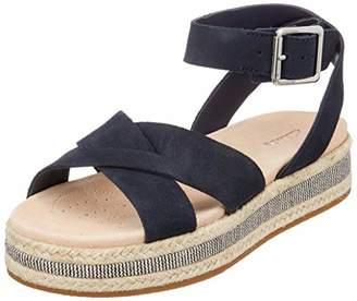Clarks Women's Botanic Poppy Ankle Strap Sandals, (Black Leather