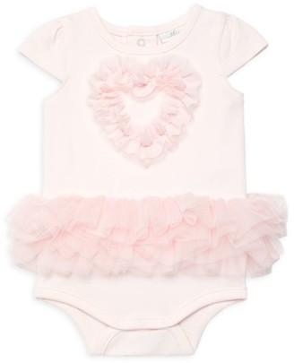 Miniclasix Baby Girl's Chiffon Heart & Tutu Cotton Bodysuit