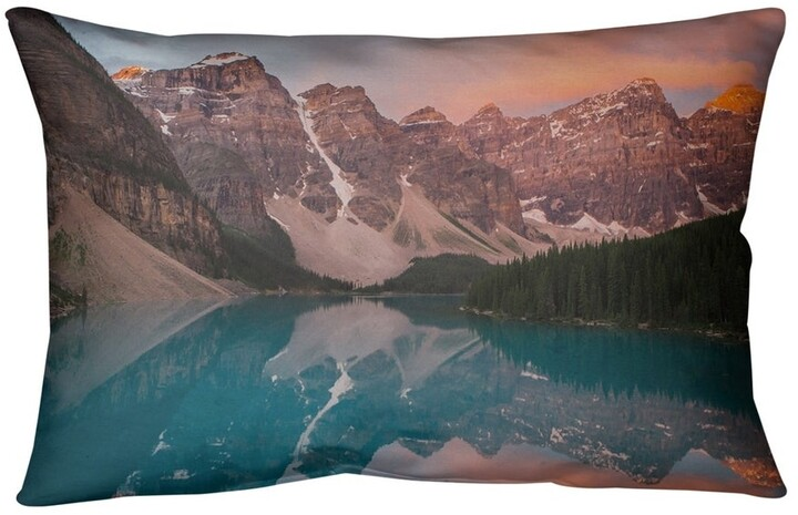 Artverse Valley And Mountains At Sunset Outdoor Lumbar Pillow Shopstyle