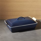 Crate & Barrel Le Creuset ® Heritage Covered Rectangle Ink Baking Dish