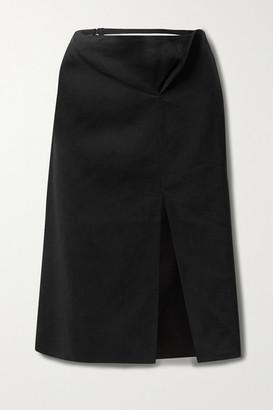 Jacquemus Cutout Hemp-blend Skirt - Black