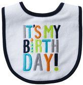 "Carter's it's my birth day!"" bib"
