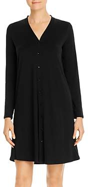 Eileen Fisher V-Neck Button-Front Dress