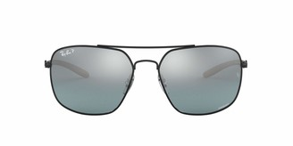 Ray-Ban Men's 0rb8322ch Polarized Square Sunglasses